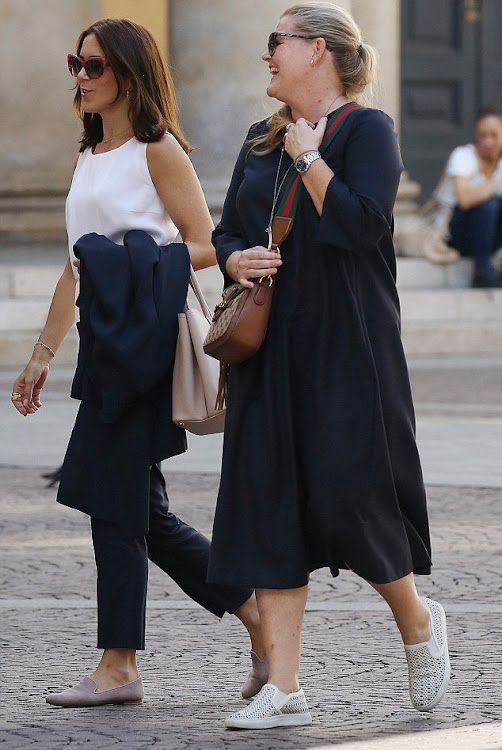 The Crown Princess stepped out in Milan to go hat shopping.