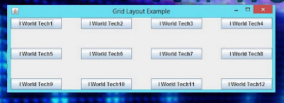 Gridlayout Manager in JAVA