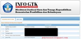 http://info.gtk.kemdikbud.go.id cek info GTK