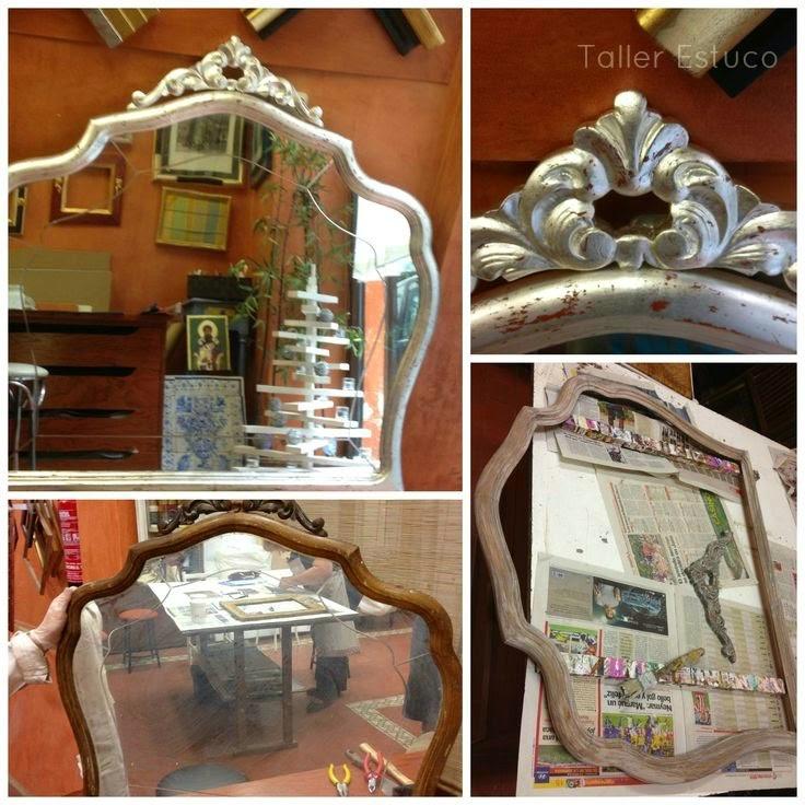 Aparador Em U Madeira ~ Decoración e interiorismo Reciclaje con un espejo de los años 50