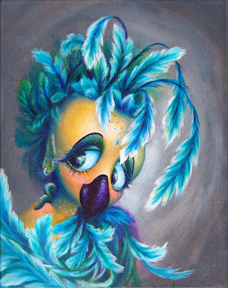 Polly wants a Cracker Acrylic Painting