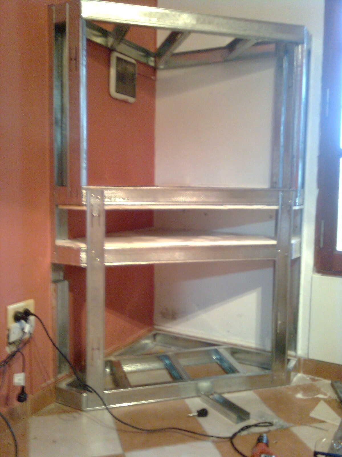Hacete un mueble para el tv y el dvd taringa for Figuras en drywall para cocinas