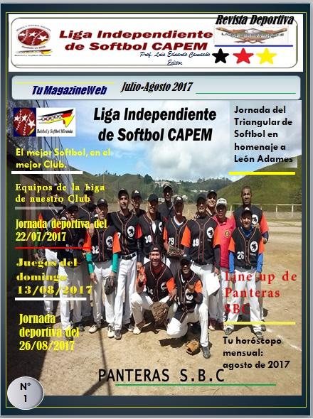 Magazine Softbol CAPEM Julio y Agosto 2017