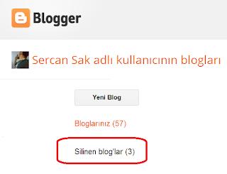 Blogger - Bloglar Nasıl Silinir ?