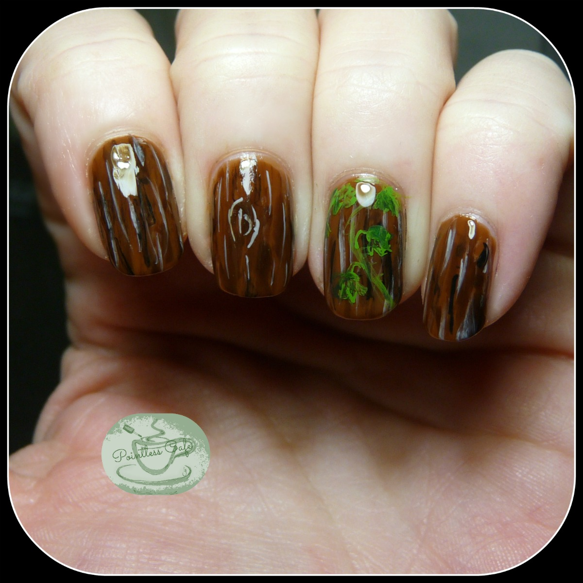 The digit al dozen does nature day 4 wood and ivy nail art check back every day this week for a new nature mani and be sure to check the links below for all the other creations by the digit al dozen gang prinsesfo Image collections