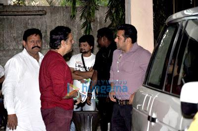 Salman Khan & Govinda  watch Mahesh Manjrekar's Marathi Cinema