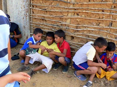 Boys Learning to Share Gospel