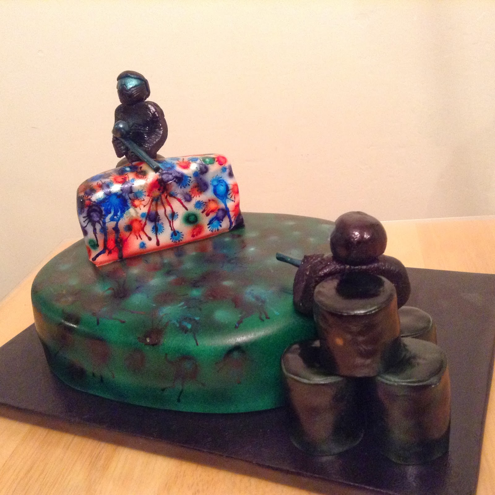 THE MIGHTY BAKER Paintball Themed Birthday Cake