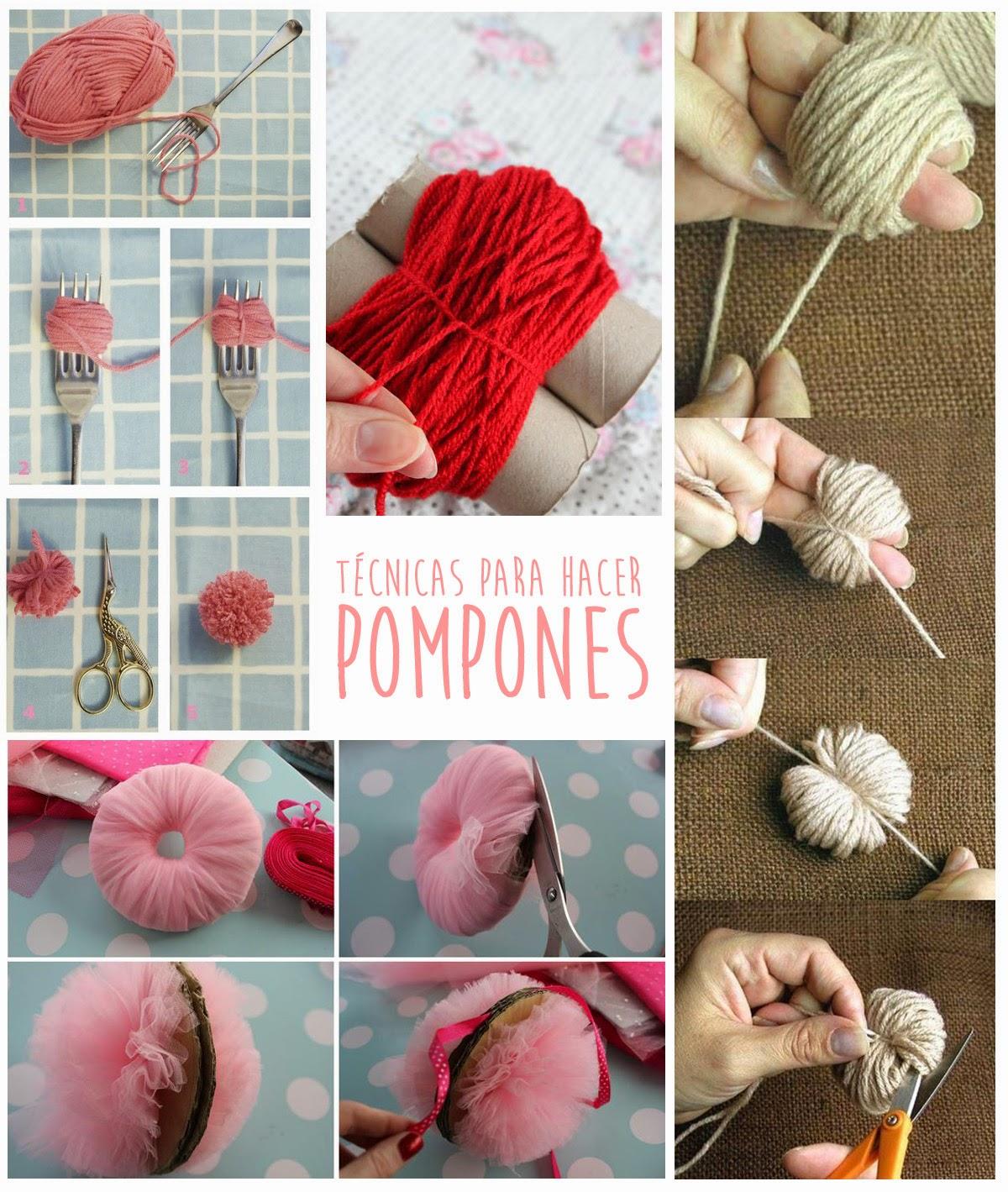 Como hacer muñecos con pompones de lana - Técnicas para hacer pompones - Manualidad