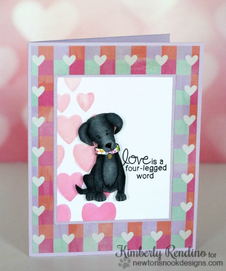 Black Lab Dog Birthday Card by Kimberly Rendino | Fetching Friendship Stamp set by Newton's Nook Designs