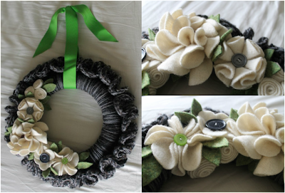 free crochet ruffle wreath pattern
