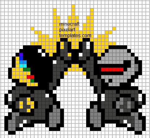 Minecraft Pixel Art Templates: Daft Punk