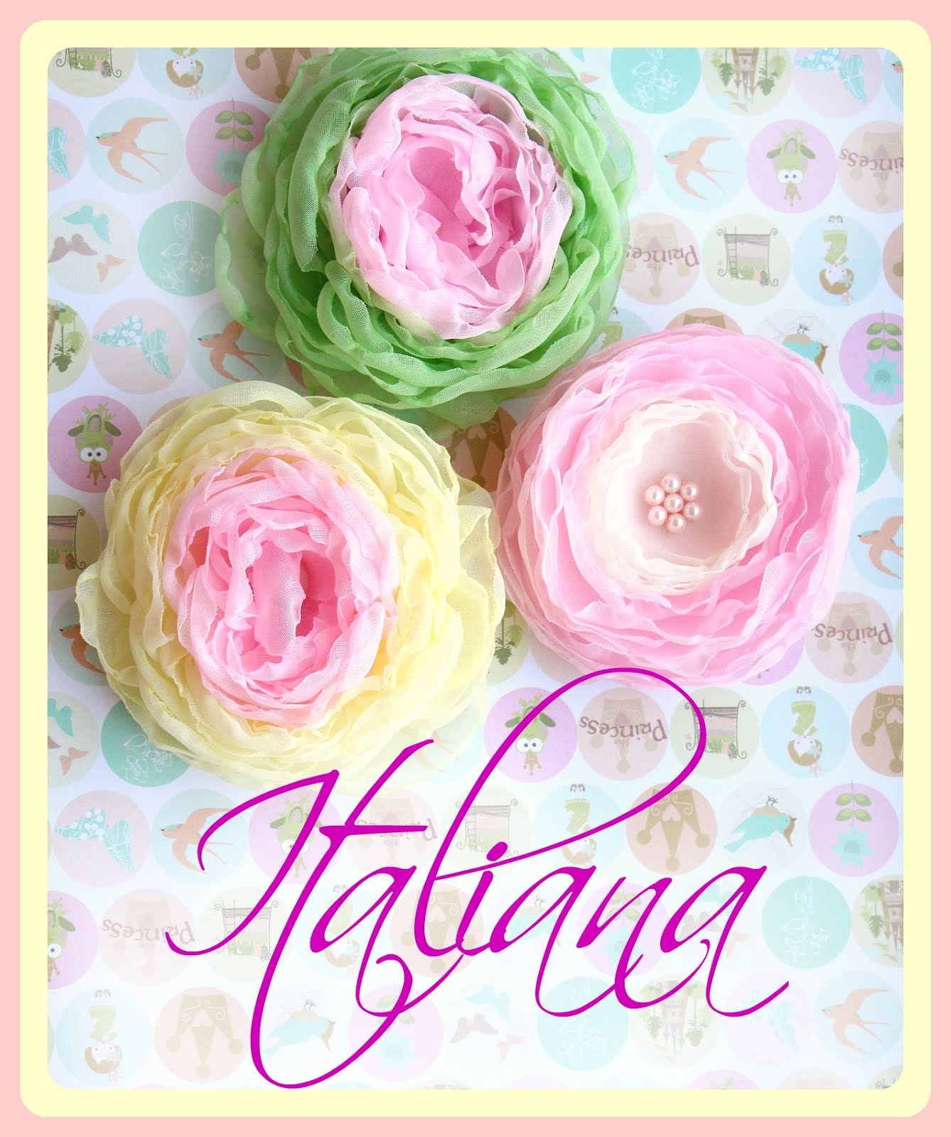 Моя группа-Цветы из ткани-повязки, заколки, броши!