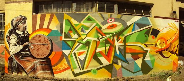 graffiti de izak y maher en concepción, chile