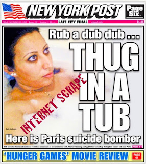 New York Post - Thug in a Tub, November 2015