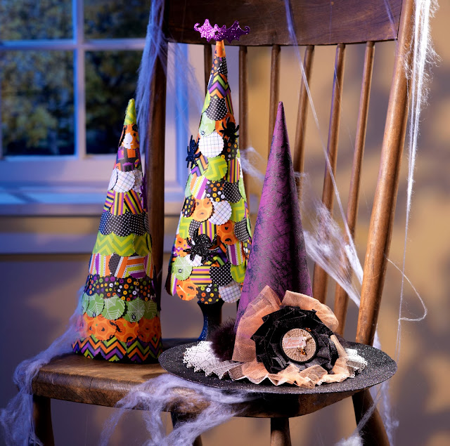 Halloween Paper Mache Cones @craftsavvy @sarahowens #craftwarehouse #halloweeen #papermache #diy #party