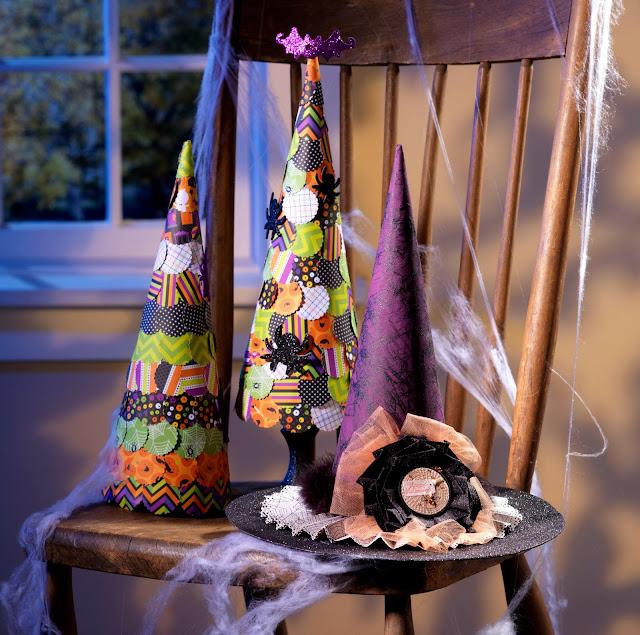 Halloween Paper Mache Cones @craftsavvy @sarahowens #craftwarehouse #halloweeen #papermache #diy #party