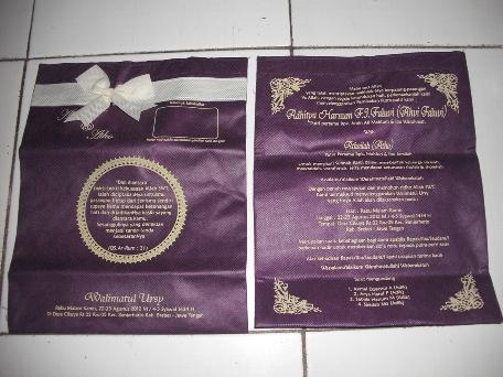 Tas Undangan Pernikahan Khitan Dll Fadhil Souvenir