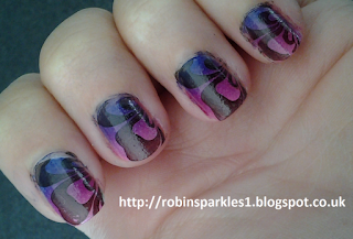 pink purple violent gradient ombre nail stamping bundle monster