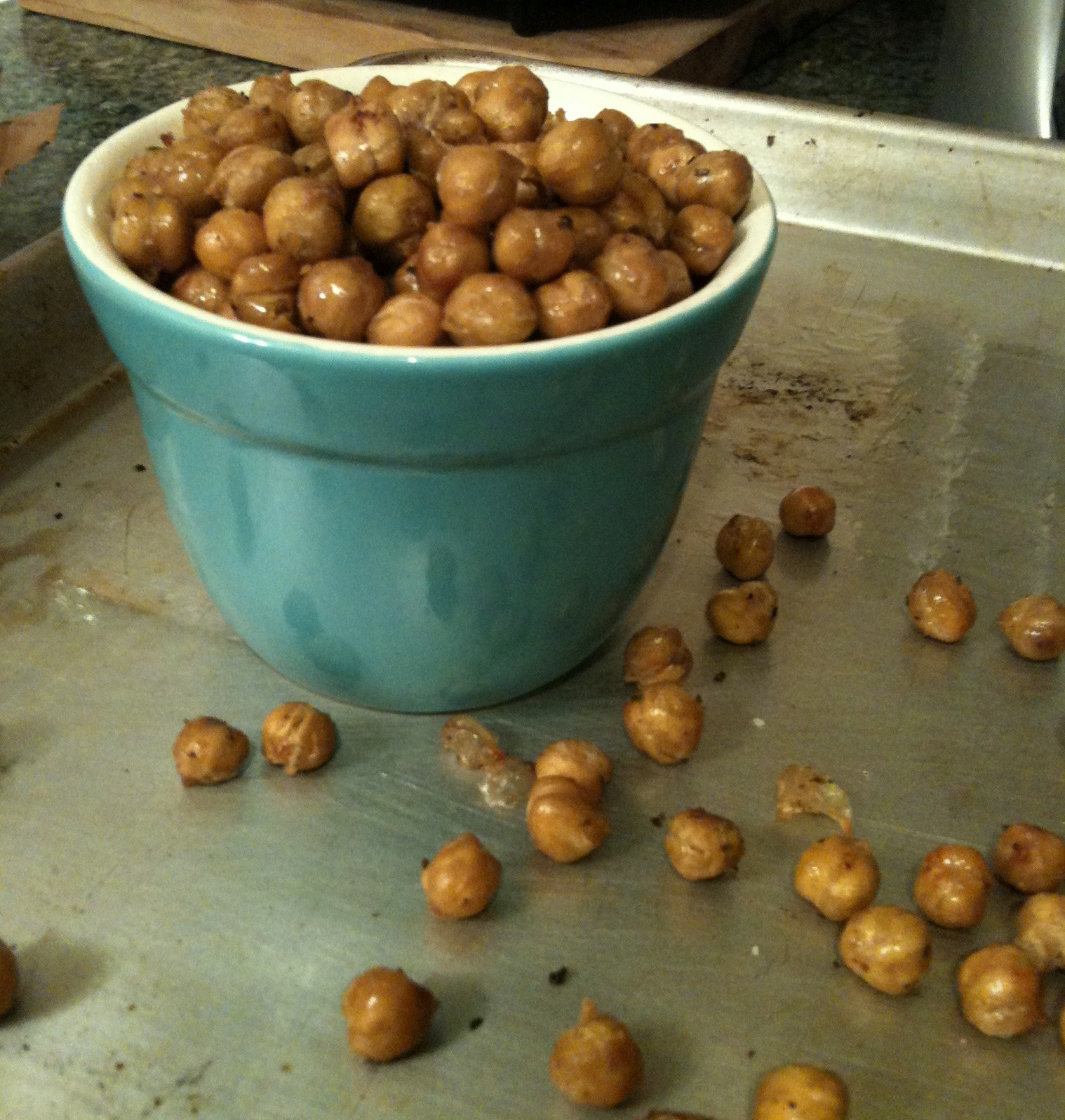 ... Family Recipe Journal: Roasted Garbanzo beans (Chickpea poppers