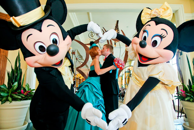 Walt Disney World Wedding with Minnie and Mickey
