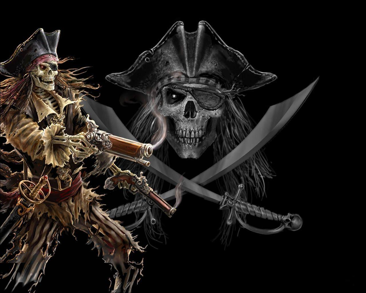 Funny wallpapers hd wallpapers desktop wallpapers pirate skull wallpaper - Pirate background ...