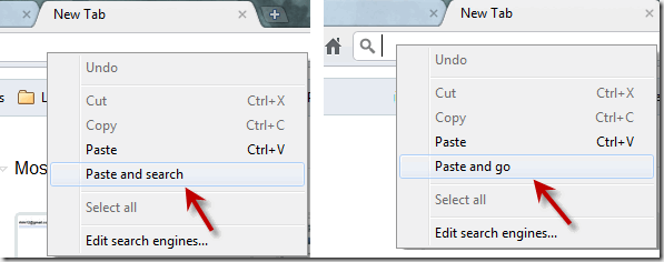 Chrome Paste And Search Or Paste And Go Feature