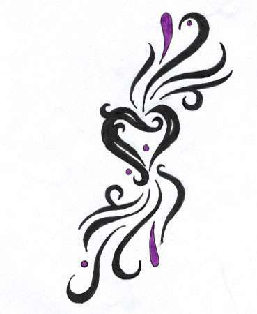 Popular Variations Include Flaming Heart Through The Heart Heart With