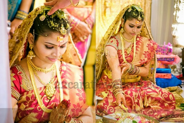 bride in south indian jewellery jewellery designs