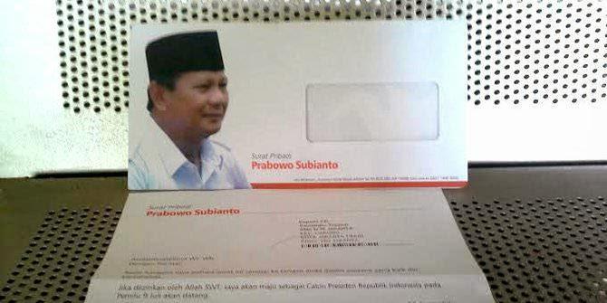 Surat Dari Prabowo untuk Guru