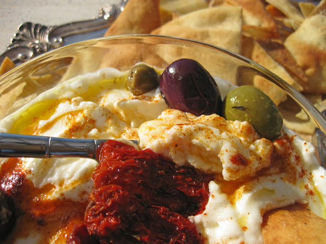 Labneh is a yogurt dip, though technically it is a yogurt cheese.