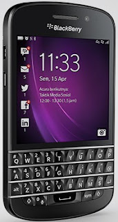 BlackBerry Q10 BB10 QWERTY Harga Rp 4 Jutaan