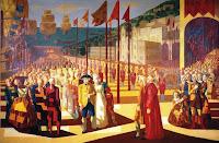Chegada de D. João VI a Salvador - tela de Cândido Portinari