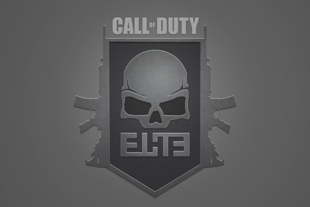 Call Of Duty Elite Skull Logo Service Activision HD Wallpaper FPS