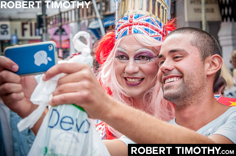 Gay pride in Soho, Central London - photo by Robert Timothy