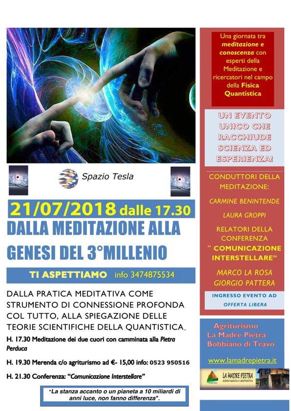 DALLA MEDITAZIONE ALLA GENESI DEL 3° MILLENIO...