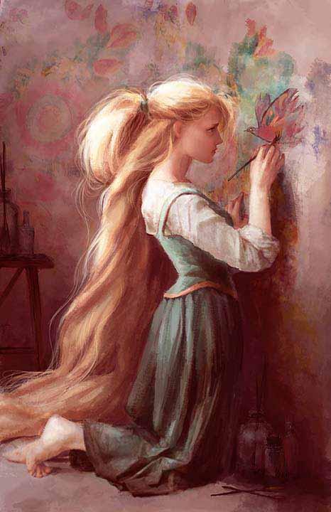 Concept Art de Rapunzel por Claire KeaneTangled Concept Art Claire Keane