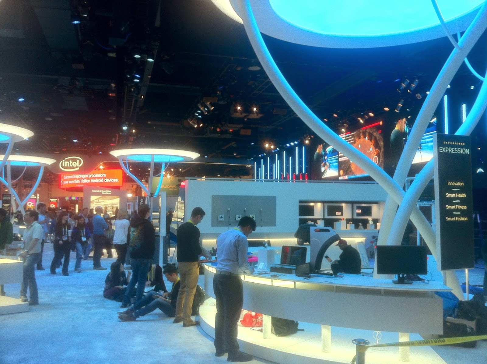 rap heal arts engineering babybe at the ces las vegas on the intel both. Black Bedroom Furniture Sets. Home Design Ideas
