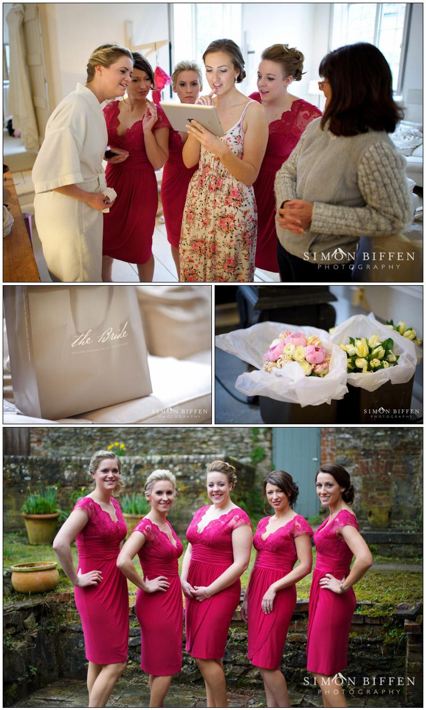 Bridal preparations at Combe House