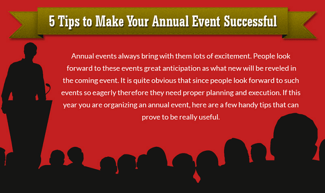 5 Tips to Make your Annual Event Successful