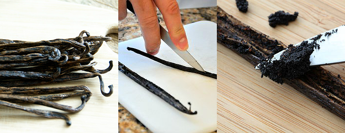How to scrape a Vanilla bean.