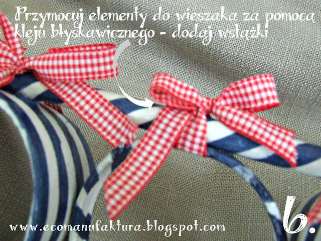 Wieszak na szale DIY tutorial eco manufaktura