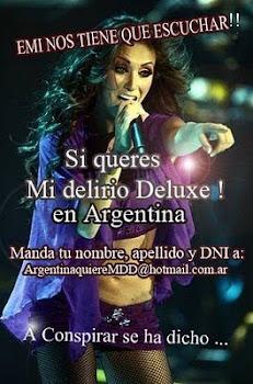 Media pila EMI!!! queremos Mi Delirio Deluxe en Argentina