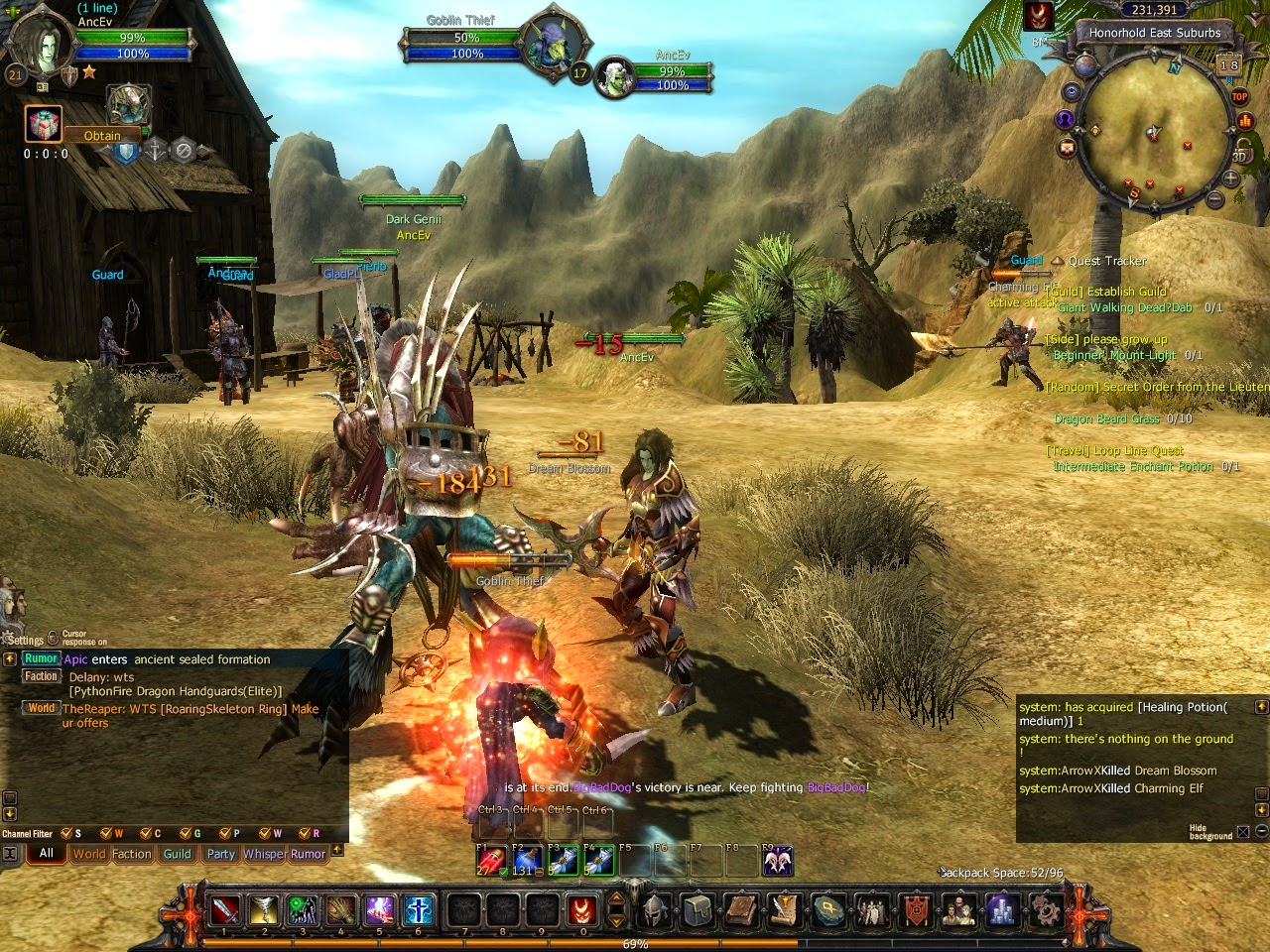 MMORPG Dodging and Evading