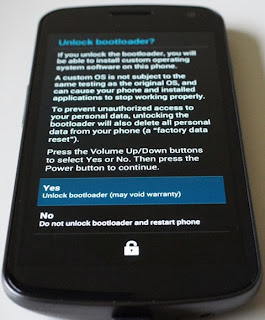 how to unlock bootloader galaxy nexus