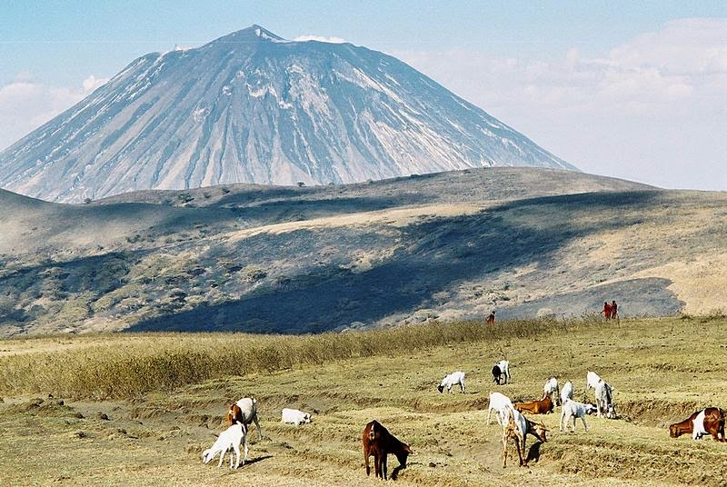 "Ol Doinyo Lengai, ""Mountain of God"" in the Maasai language, is located in the north of Tanzania"