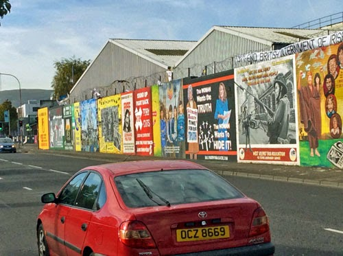 Republican Murals in Belfast, Northern Ireland, UK.