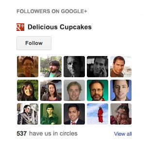 Виджет фолловеров Google+