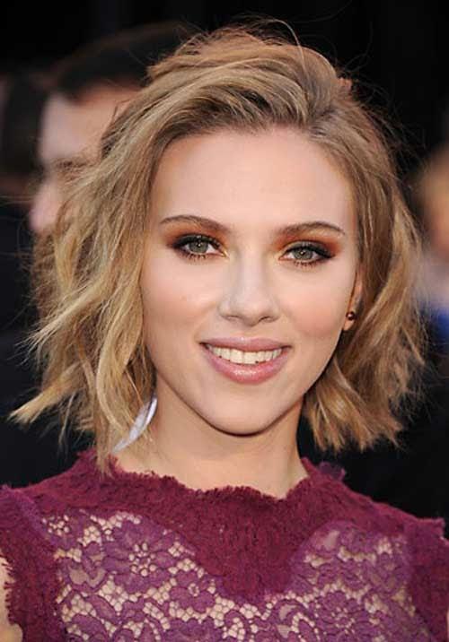 Scarlett Johansson 2013 Hairstyle Celebrity Magazine