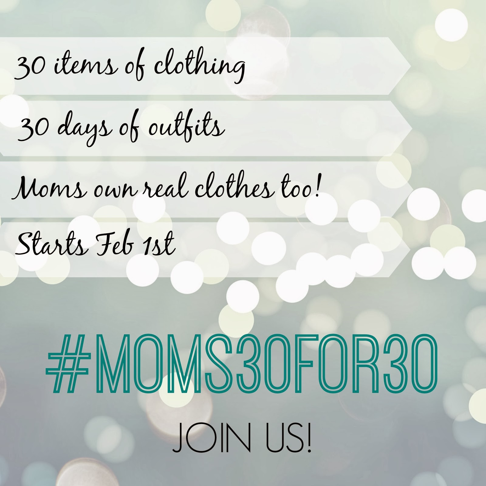 #moms30for30 Recap Post {It was about more than just clothes}